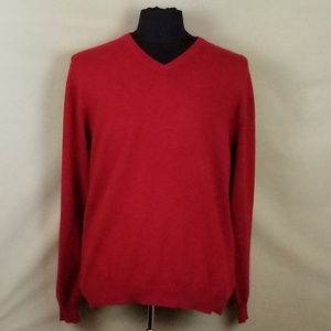 Club Room 100% Cashmere V-Neck Sweater Men's L